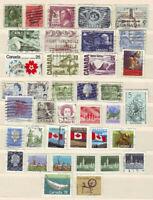 Kanada 38 verschiedene Briefmarken, alt + neu, gestempelt, kl. Sammlung Lot
