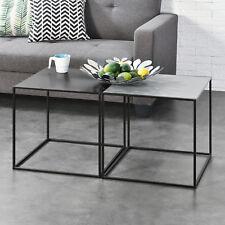 [en.casa] 2x Couchtisch Beistelltisch Wohnzimmertisch Tisch Kaffeetisch 2er Set