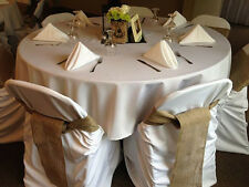 "100 Burlap Chair Cover Sashes Bows 6""x108"" Wedding Event 100% Fine Natural Jute"