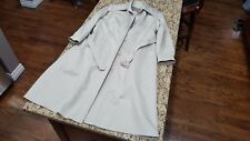 NWOT London Fog Trench Coat Beige removable lining thick warm EC sz 14 Reg