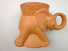 1980 Light ORANGE Frankoma GOP Elephant Coffee  Mug