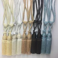 1 Pair Beaded Tassels Tieback Curtain Cord Home Window Treatments Choose color