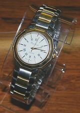Pierre Nicol Gold Toned & Silver Stainless Steel Unisex Quartz Dress Wrist Watch