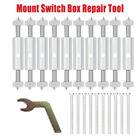 10Pcs 86 Type Socket Wall Mount Switch Box Recovery Bottom Dark Box Repair