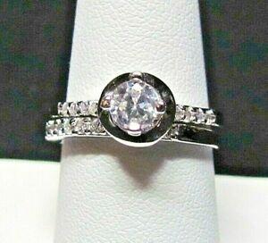 SIMULATED DIAMOND BRIDAL SET SIZE 8.5 TGW 1.03 CTS STAINLESS STEEL NIB  LOT 128