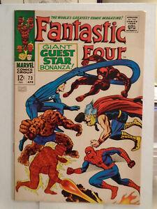 Marvel FANTASTIC FOUR #73 (1968) Daredevil, Spider-Man, & Thor App. HIGH GRADE