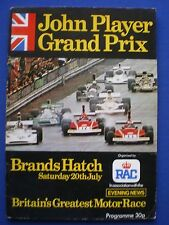 John Player Grand Prix - Brands Hatch 20th July 1974 Official Programme