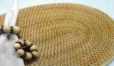 Woven Placemats Rattan Oval Place Mats for Round Tables Set of Four 18 x 14 Inch