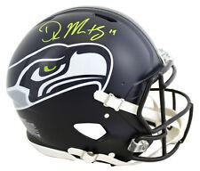 Seahawks D.K. Metcalf Signed Full Size Speed Proline Helmet BAS Witnessed