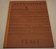 ALEXANDER'S FEAST BY JOHN DRYDEN 1631-1700 (CHRISTOPHER SKELTON 1985)