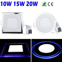 1/10/20x 10W 15W 20W Dual Colors LED Recessed Ceiling Panel Down Light Bulb Lamp