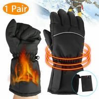Motorbike Motorcycle Heated Gloves Winter Warm Battery Electric Waterproof 2019