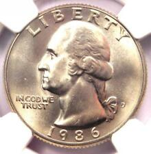 1986-D Washington Quarter 25C - NGC MS67 - Rare in MS67 Grade - $395 Value!