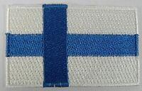 Finnland Aufnäher gestickt,Flagge Fahne,Patch,Aufbügler,6,5cm,neu
