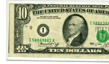 "$10 ""Major Miscut Error"" 1974 (Reverse Normal)! 1974 $10 2Nd Note Shows! Rare!"