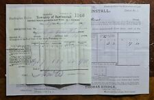 1897 Township of Rawenstall Demand Note and Receipt