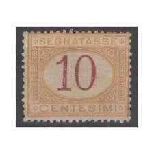 REGNO D'ITALIA 1870-74 SEGNATASSE 10 CENTESIMI N.6 G.I MNH** CERT.