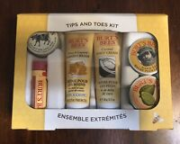 Burt's Bees Tips and Toe Kit 6 piece, Hand, Foot, lips...Same Day Shipping