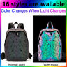 丿Geometric glow bag Luminous Purses and Handbags for Women Holographic  Backpack