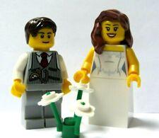LEGO 2 minifigura Paggetto Damigella D/'OnOre Capelli Biondi Matrimonio Sposo Sposa Damigella Set 2