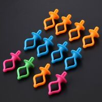 12 Pieces Assorted Color Silicone Thread Clips Bobbin Holders Clips Clamps Tool