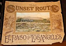 Early 1900 picture Railroad trains - Sunset Route from El Paso to Los Angeles