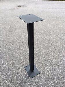 Black Metal Powder coated Post Box Stand for Royal Mail Post Box Post Box 85 cm