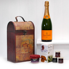 75cl Veuve Clicquot Champagne and Food Gift Hamper in a Vintage Style Wine Chest