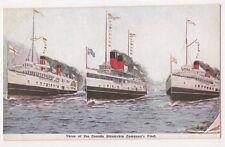 Three Of The Canada Steamship Company Fleet Shipping Postcard B643
