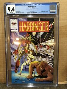 Harbinger 3 CGC 9.4 1992 Direct Edition DM Valiant - Mail-Order Coupon Missing