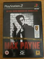 Max Payne Sony PlayStation 2 PS2 PAL Complete Black Label Rockstar Games