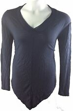 Rock & Republic Women Pullover V-neck Long sleeves Size M Navy