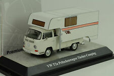 Volkswagen VW T2a Plataforma Pick-up Cuento CAMPING BLANCO 1:43