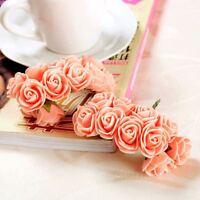 Rose en mousse pêche 2cm fleur artificielle.décoration mariage baptême 144pcs