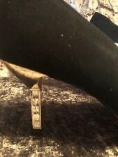 BLACK SUEDE HIGH HEELS BY DUNE FAUX DIAMOND HEEL DETAILING SIZE 8UK 41EUR