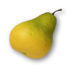 Artificial Fruit 90mm 'Yellow Pear' Pears Realistic Pack x2