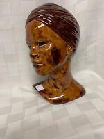 Vintage Keneerie Bust African Lady