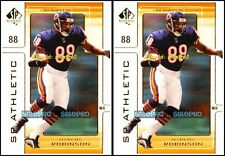 2x UD SP AUTHENTIC 2000 MARCUS ROBINSON NFL CHICAGO BEARS SP ATHLETIC #A8 LOT