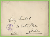 G.B. - Cover addressed to to 'Lady Kinloch, with GvR Royal Insignia cachet