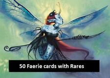 50 Faerie Lot with Rares! Collection - EDH - Magic the Gathering MTG FTG