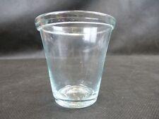 Kleiner Becher / Kleines Glas mit Abriss / Waldglas Hafen lichtgrünes Glas