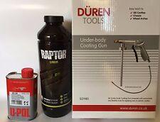 UPOL Raptor TINTABLE Tough Urethene Coating Truck Bed Liner +Underbody Spray Gun