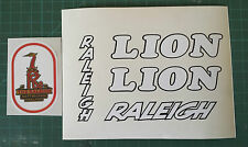 "Raleigh ""LION"" retro/vintage bike decals/sticker set"