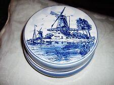 Muy Bonita delftsblauw Delft Azul Blanco Olla con tapa agro 335 barcos de molino de viento