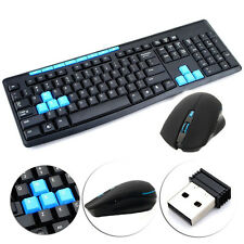 Gaming Wireless 2.4G Keyboard and Mouse Set Kit for Laptop PC Multimedia Game US
