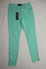 FOREVER NEW aqua mist mint green ankle zip slim skinny leg jeans size 8 BNWT