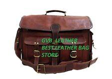 Men's Seller Handmade Leather Messenger Shoulder Bag Cross Body Laptop Case