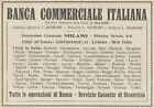 Z1782 Banca Commerciale Italiana - Pubblicità d'epoca - 1923 Old advertising