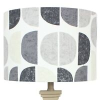 Fryetts Natural Luna Half Moon Scandi Drum Lampshade Lightshade
