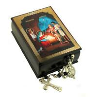 "Nativity of Christ  Icon Jewelry Prayer Rope Beads Rosary Box  3 3/4""x2 1/2"""